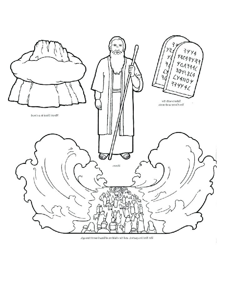 736x952 Moses Coloring Sheet Coloring Pages Collection