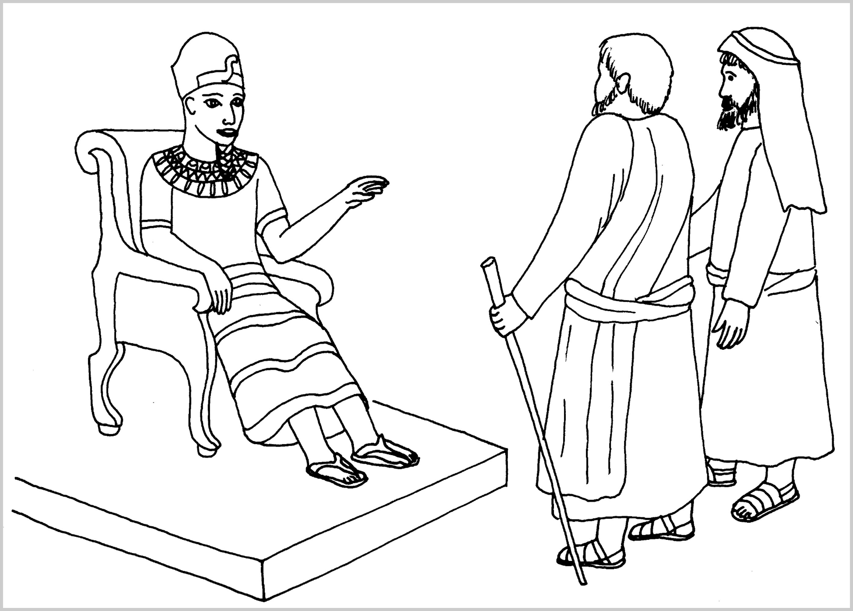 2792x1999 Elegant Pharaoh And Moses Coloring Pages