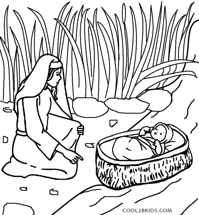 648x700 Moses And The Burning Bush Coloring Page Also Free Coloring Pages