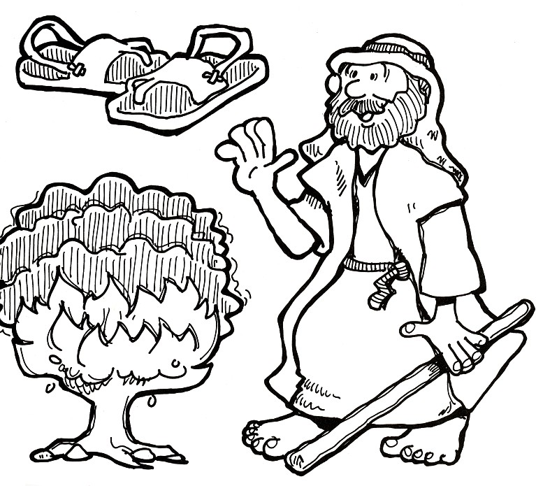 767x695 Moses Burning Bush Kids Bible Study Ideas Burning