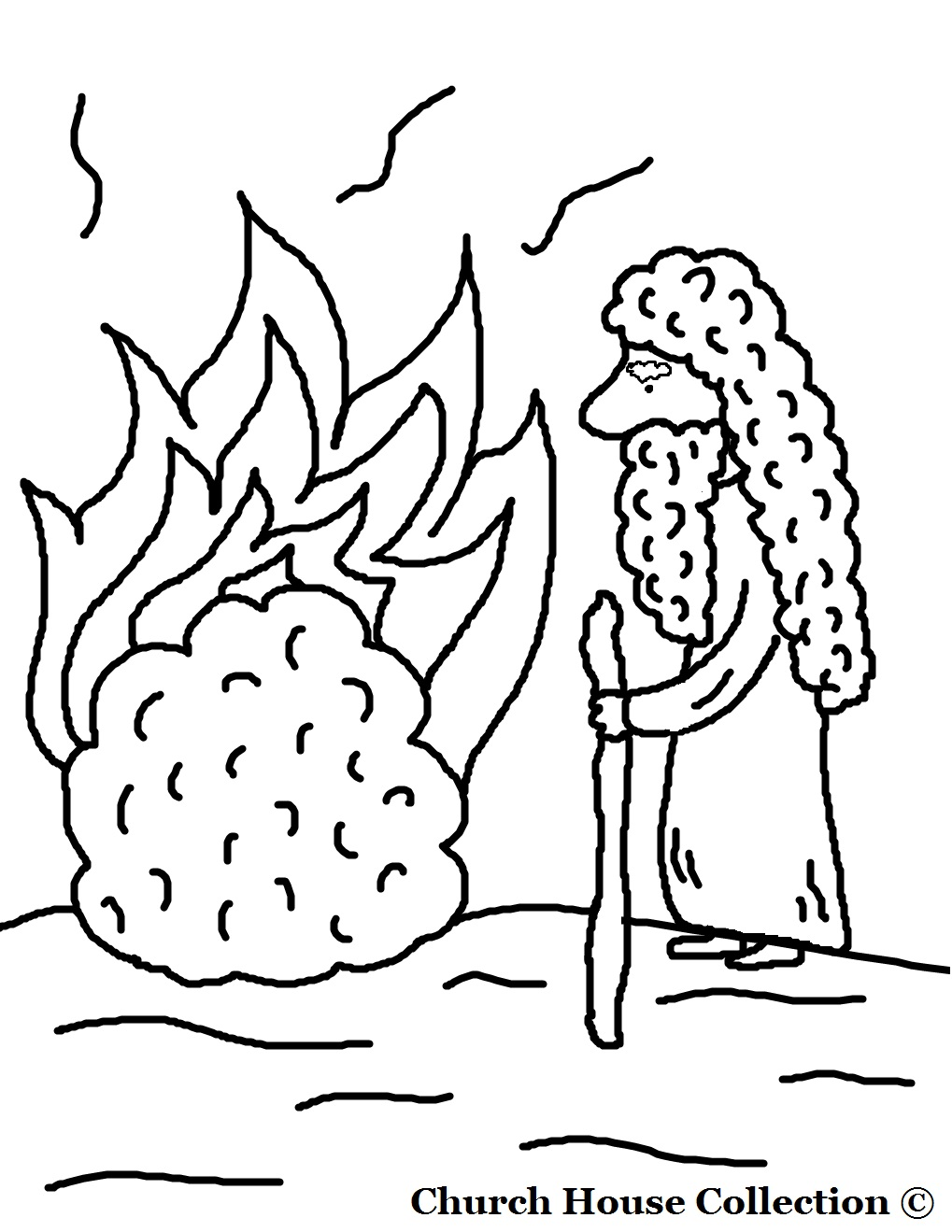 1019x1319 Perfect Moses And The Burning Bush Coloring Pa Unknown Pages