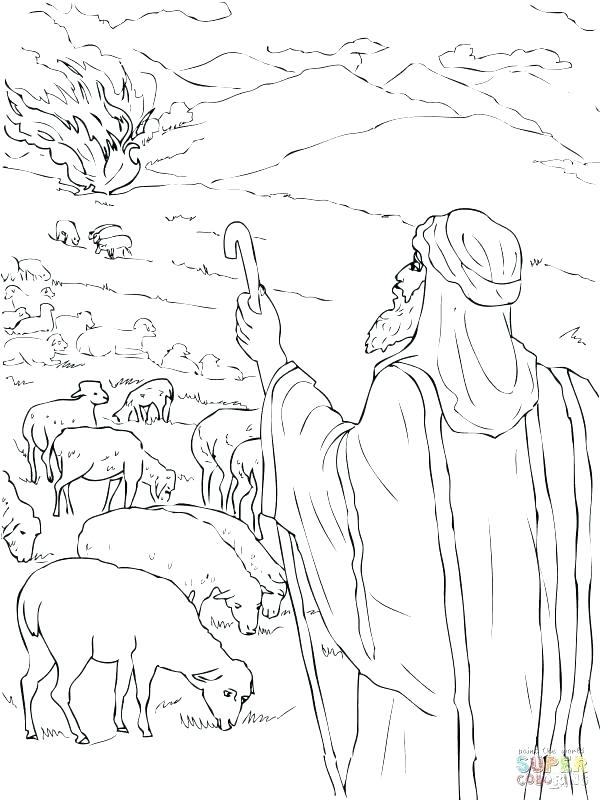 600x800 And Burning Bush Coloring Pages And Cool