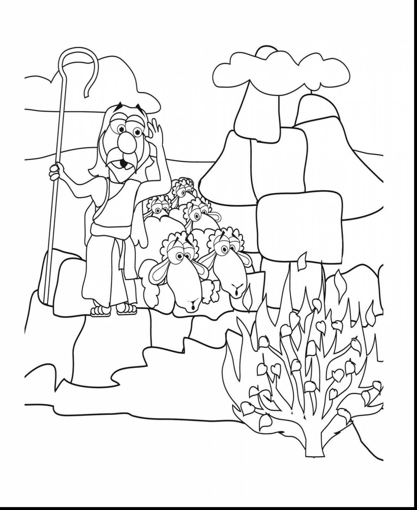 1439x1760 Unbelievable Moses Burning Bush Coloring Page With Egypt Also
