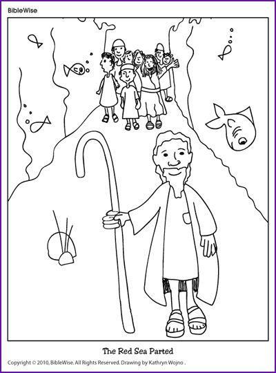 400x540 Best Moses Parting The Red Sea!!! Images On Coloring