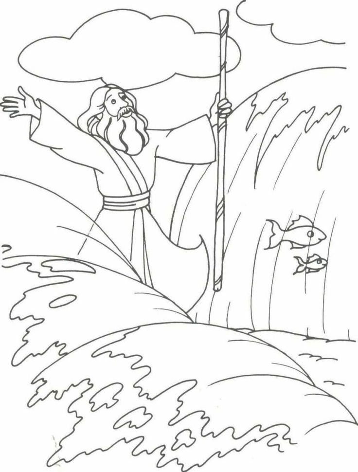 736x970 Just Arrived Moses And The Red Sea Coloring Page Parting Of Many