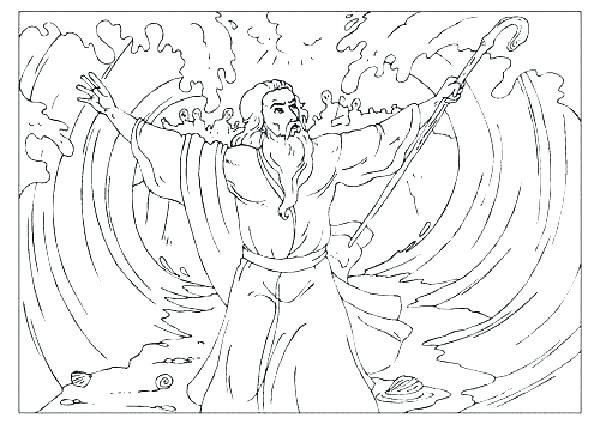 600x424 Moses And The Red Sea Coloring Page And The Red Sea Coloring Page
