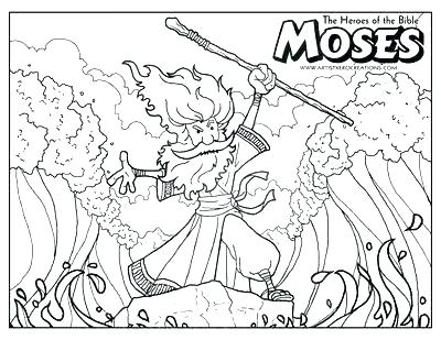 400x309 Moses Parting The Red Sea Coloring Page Baby Coloring Pages