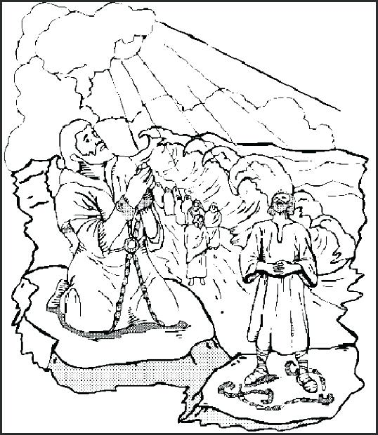 538x620 Moses Parting The Red Sea Coloring Page On Coloring Pages Moses