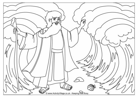 480x339 Moses And The Red Sea Coloring Page Moses Parting The Red Sea