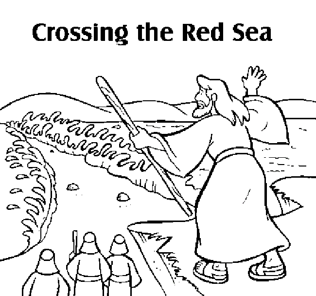 650x608 Red Sea Coloring Page