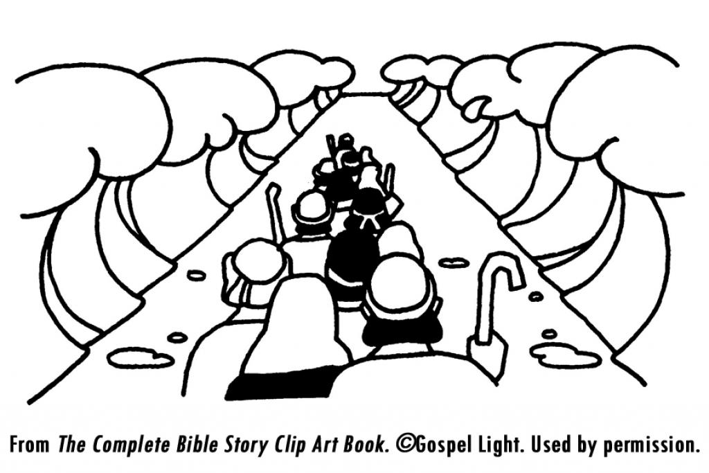 1024x683 Israelites Crossing The Red Sea Coloring Page Israelites Crossing