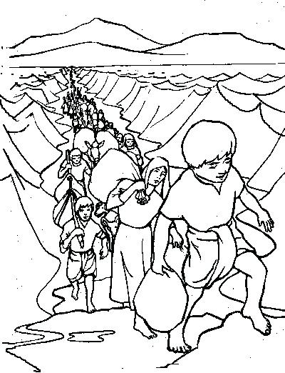 400x522 Moses Crossing The Red Sea Coloring Page