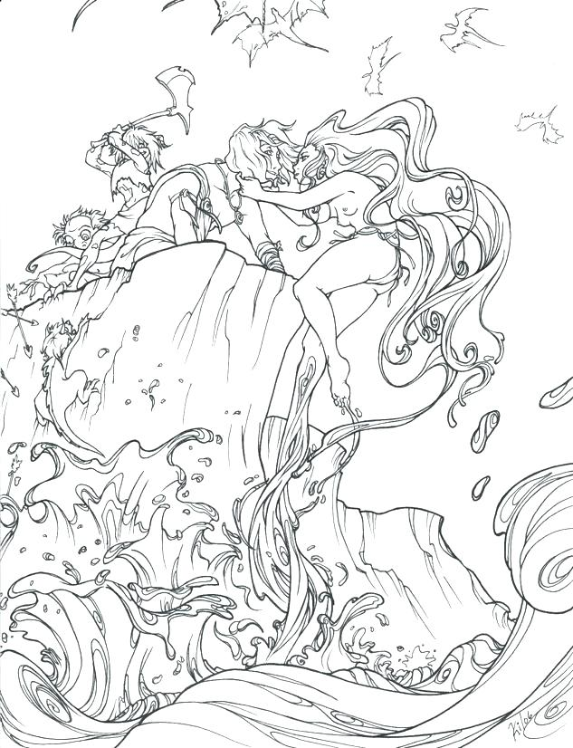 633x826 Bible Story Coloring Page For The Parting Of The Red Sea