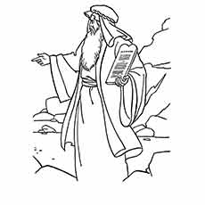 Moses Coloring Pages at GetDrawings.com | Free for personal ...