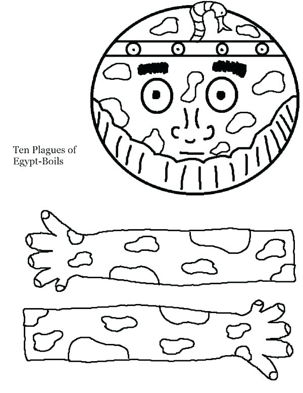 600x777 Plagues Of Egypt Coloring Pages The Plagues Of Egypt