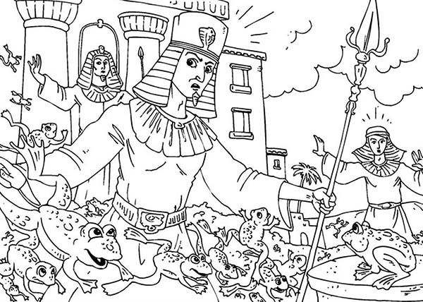 photo relating to Free Printable Moses Coloring Pages identify Moses Plagues Coloring Internet pages at  No cost for