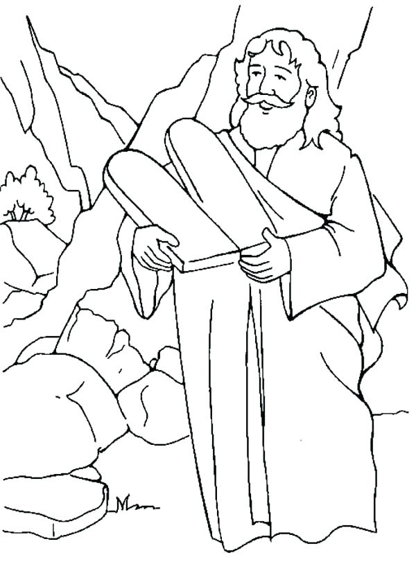 Moses Ten Commandments Coloring Pages at GetDrawings.com | Free for ...