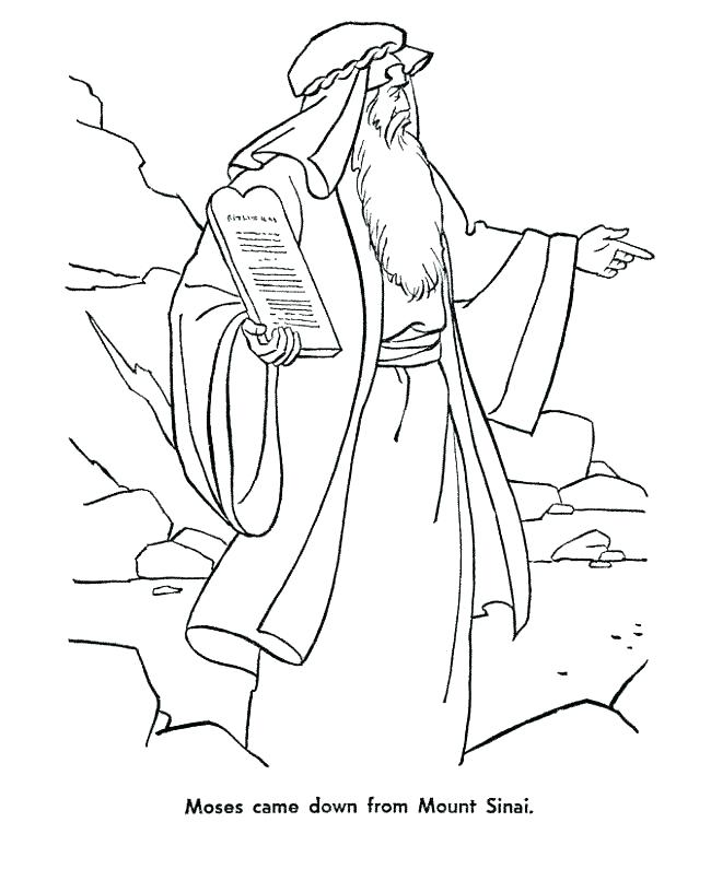 Moses Ten Commandments Coloring Pages At Getdrawings Com Free For