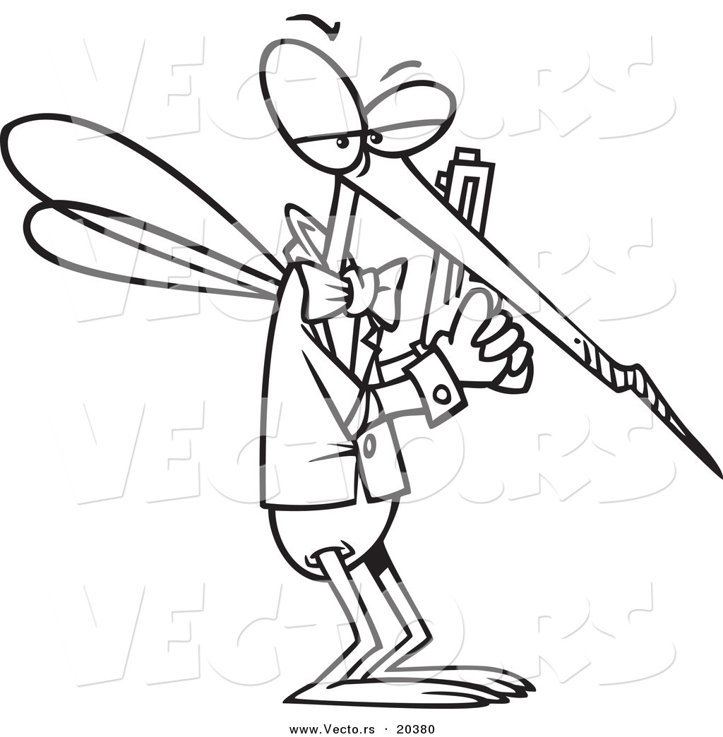 1024x1044 Vector Of A Cartoon Mosquito Agent