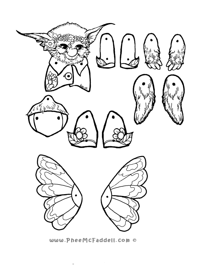 670x900 Moth Puppet Coloring Page