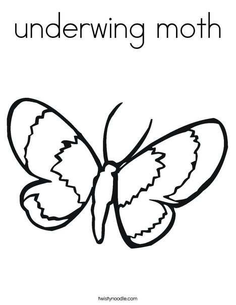 468x605 Underwing Moth Coloring Page