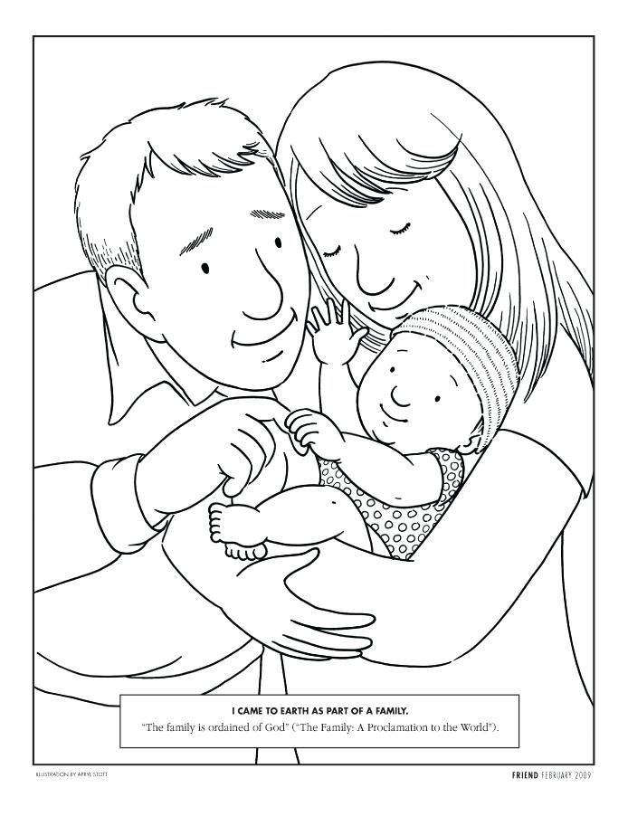 694x902 Mom Baby Coloring Pages Mom Dad Coloring Page New Mom