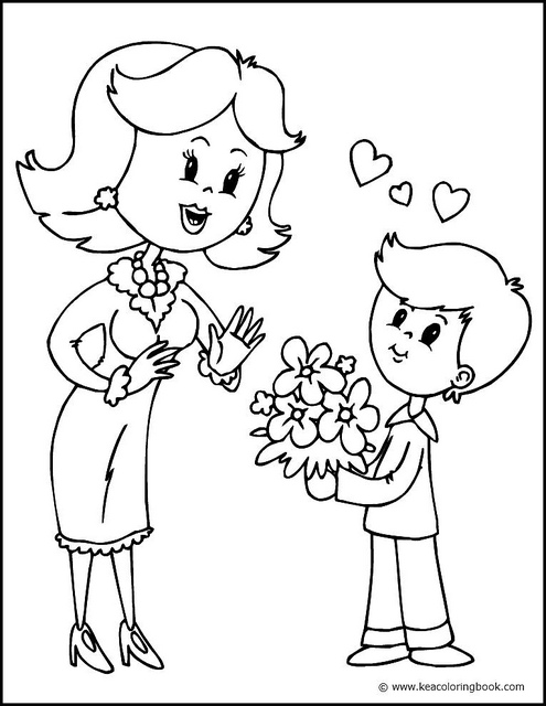 495x640 Mother And Son Coloring Page Photo Sharing!, Mother And Son