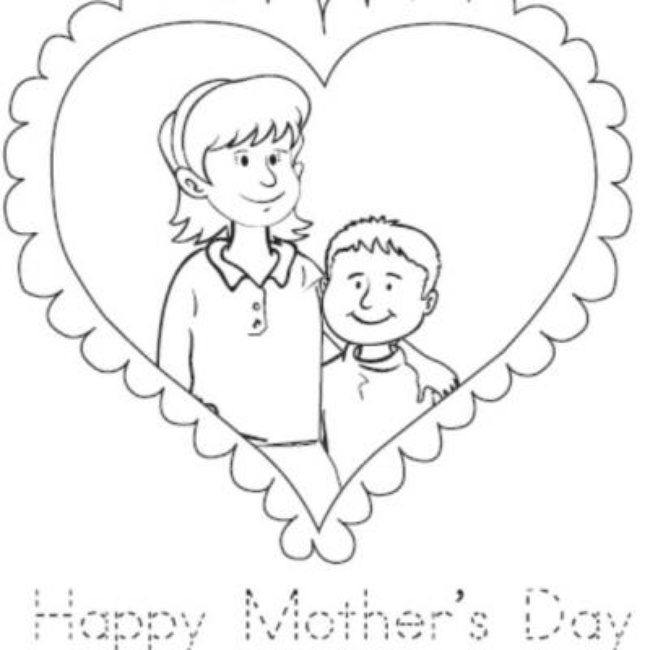 650x650 Mother And Son Coloring Pages