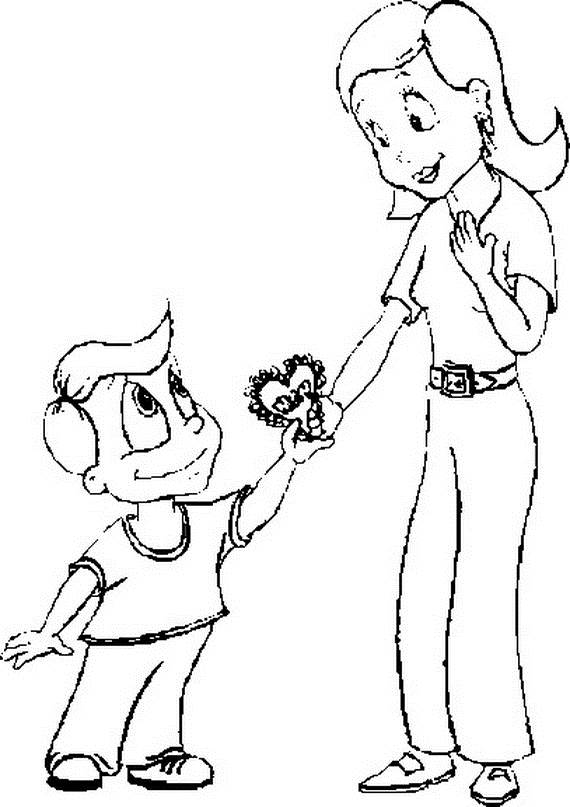570x807 Mothers Day Coloring Pages For The Holiday