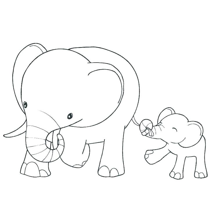 736x736 New Baby Coloring Pages Baby Color Pages Cute Elephant Coloring
