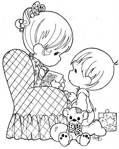 Mother And Son Coloring Pages