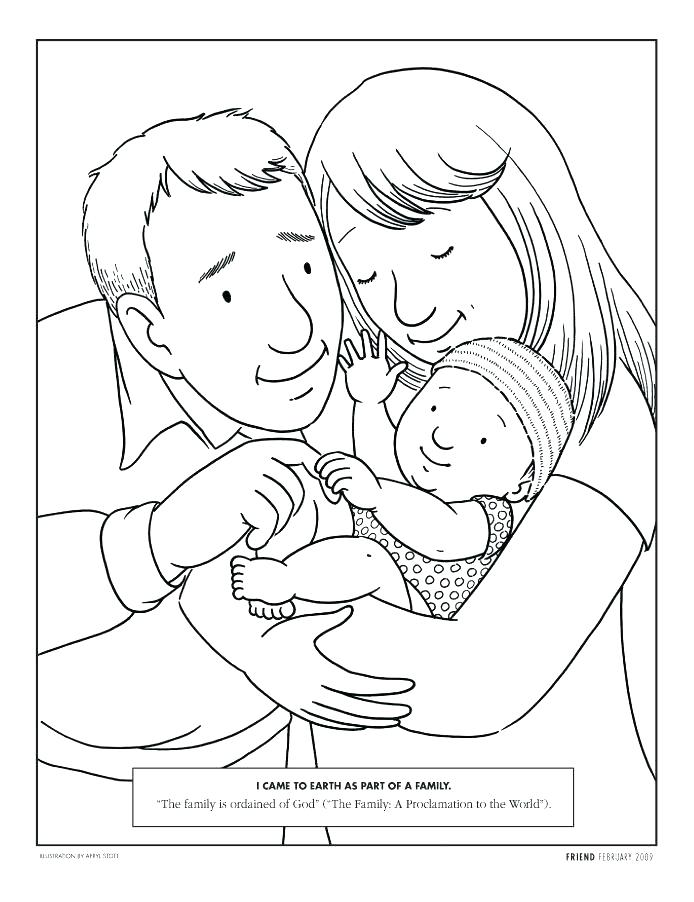 694x902 Father Son Coloring Pages Mother With A Little Son Father