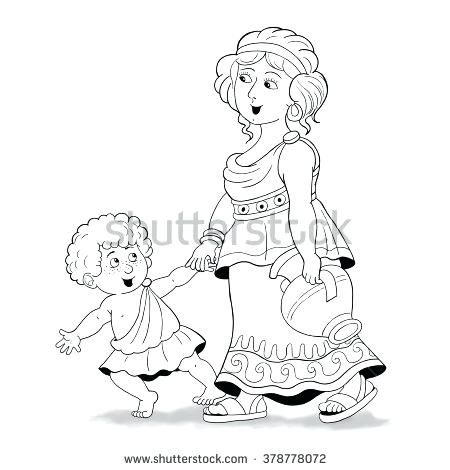 450x470 Mother And Son Coloring Pages Family Coloring Sheets Pa Mother Son