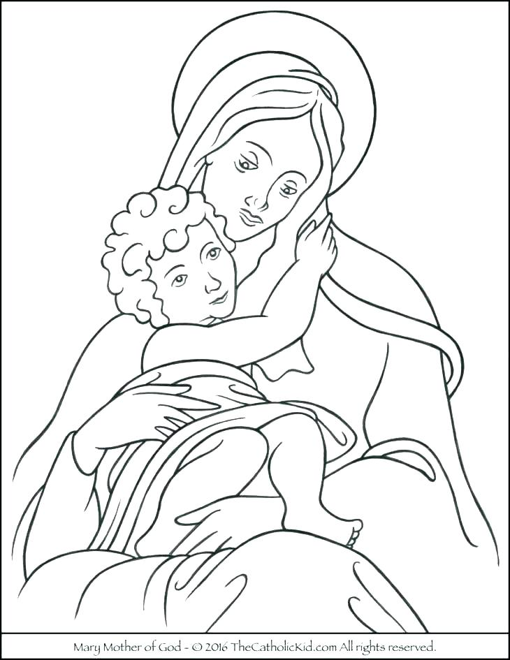730x945 Mother Coloring Pages Mother And Son Coloring Pages Mother