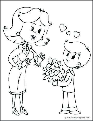 386x500 Coloring Pages Of Mother Mary Mother Coloring Pages Mother And Son