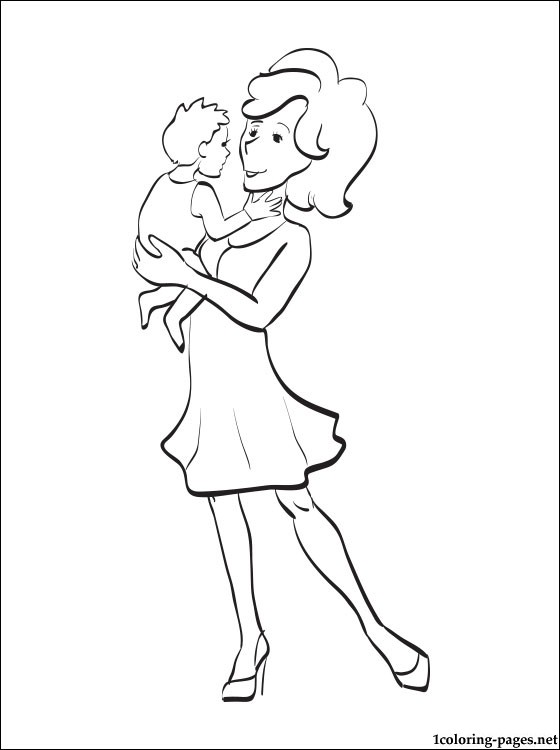 560x750 Mother's Day Coloring Page For Toddlers Coloring Pages