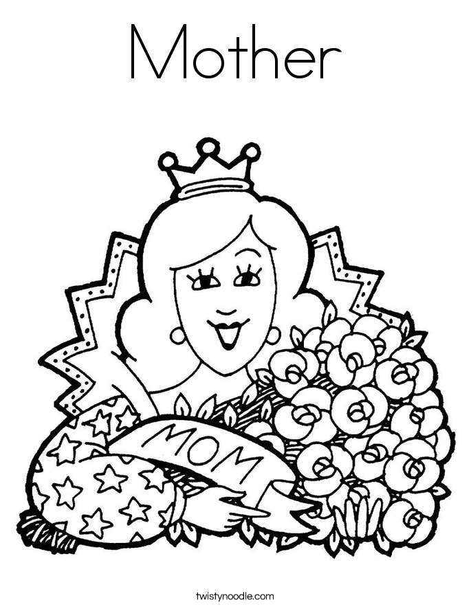 685x886 Mother Coloring Page