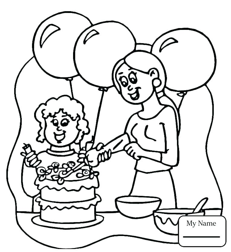 765x835 Coloring Pages Of A Mother
