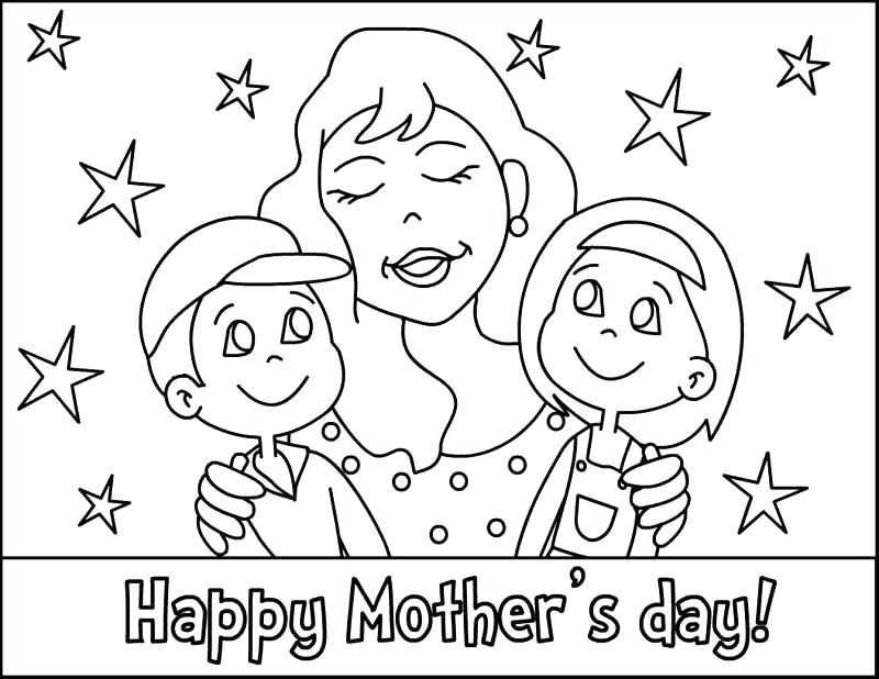 800x618 Brilliant Design Mothers Day Coloring Pages Mother Day Coloring