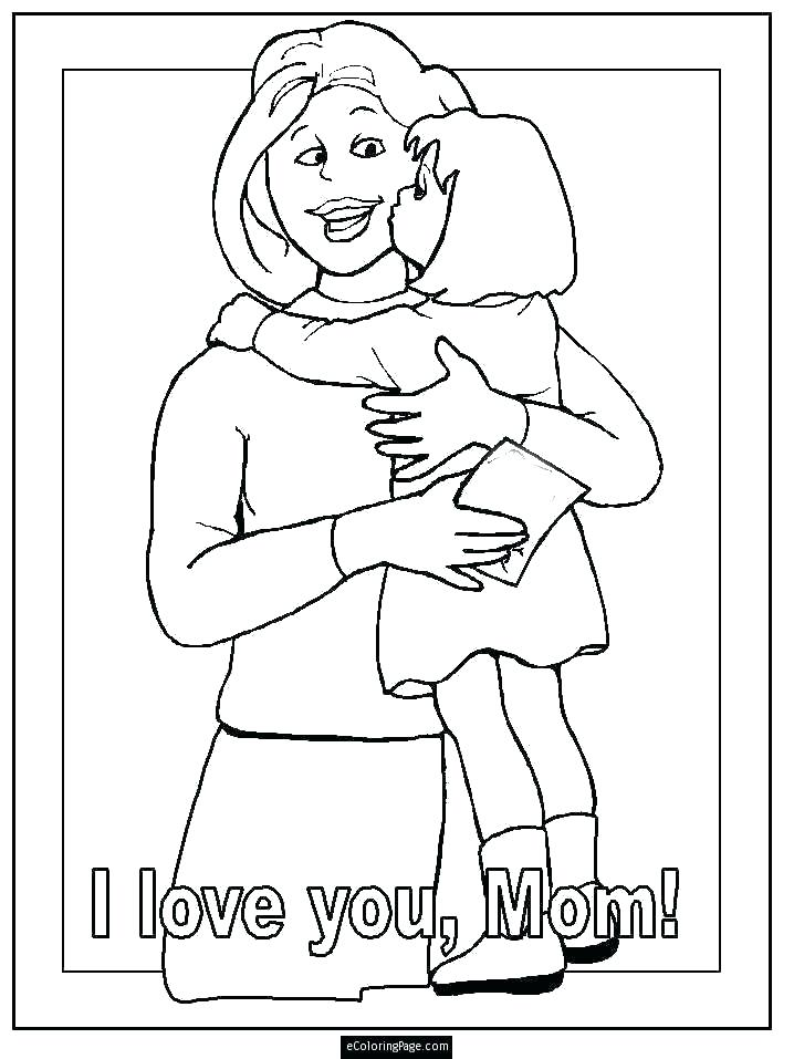 718x957 Coloring Pages Of A Mother Coloring Pages For Moms Mother