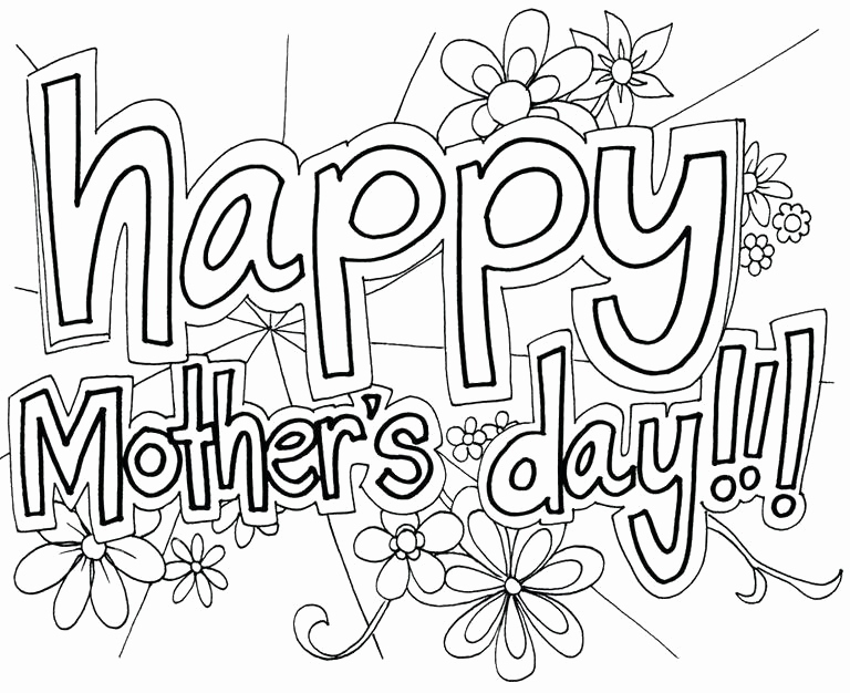 768x626 Free Printable Mothers Day Coloring Pages Photos Mothers Day