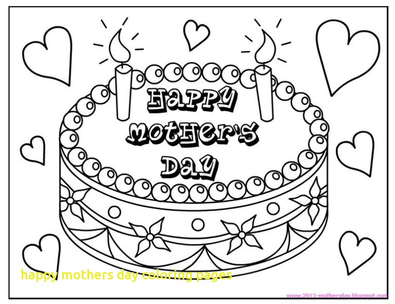 768x592 Happy Mothers Day Coloring Pages With Free Printable Mother S