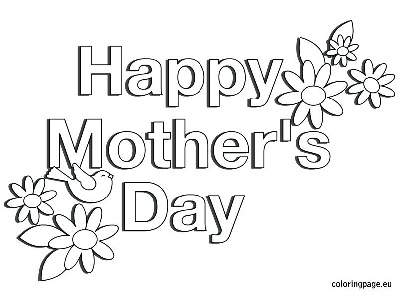 Mother Day Coloring Pages To Print At Getdrawings Com Free For