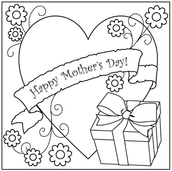 550x547 Best Free Printable Mother's Day Coloring Pages