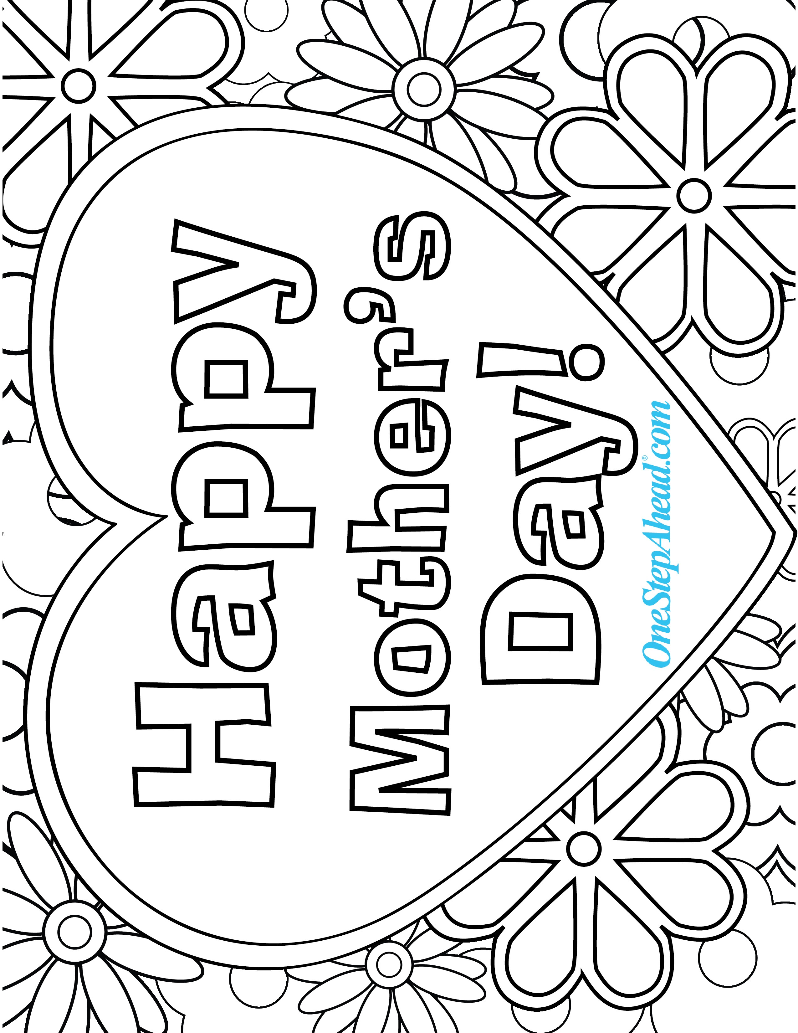 2550x3300 Mothers Day Coloring Pages Lds Copy Happy Mother And Her Kids