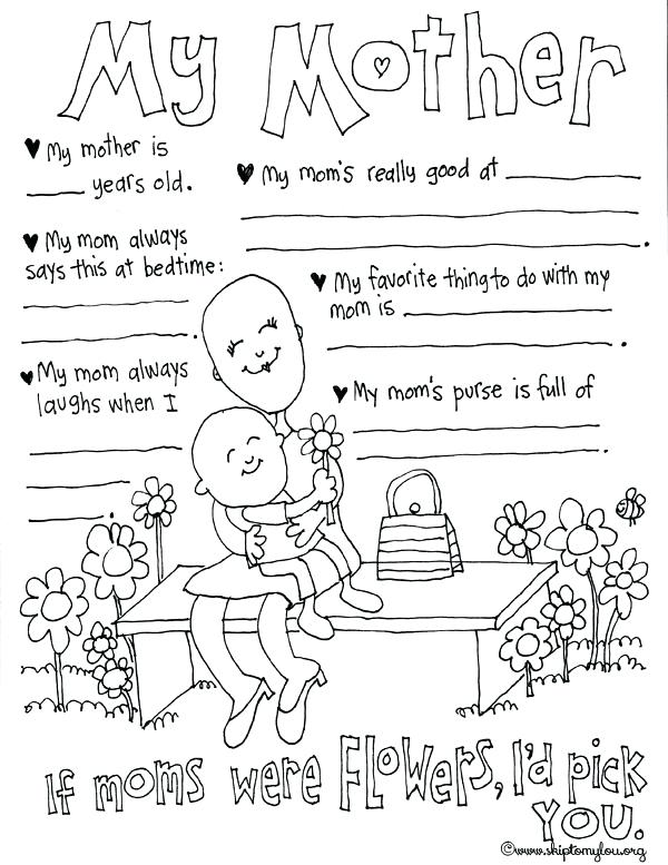 600x777 Mothers Day Coloring Pages Skip To My Lou My Mother Coloring Sheet