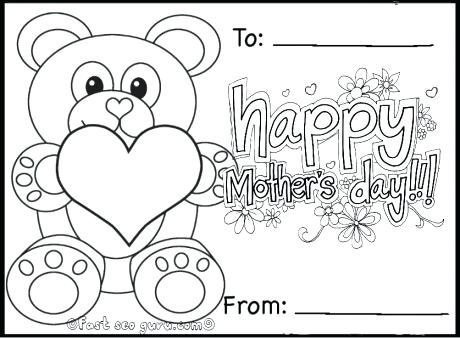 460x338 Mothers Day Coloring Sheets Printable Happy Mothers Day Teddy Bear