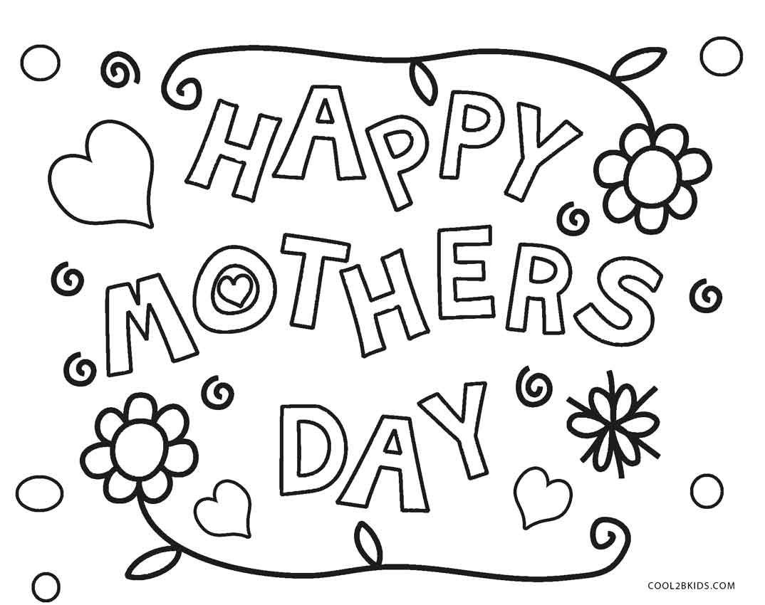 1074x850 Free Printable Mothers Day Coloring Pages For Kids