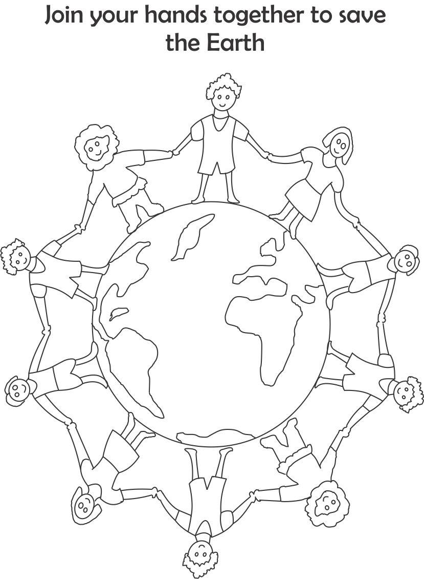 829x1130 Earth Day Printable Coloring Page For Kids