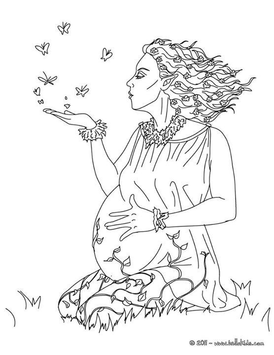 556x720 Mother Earth Coloring Pages